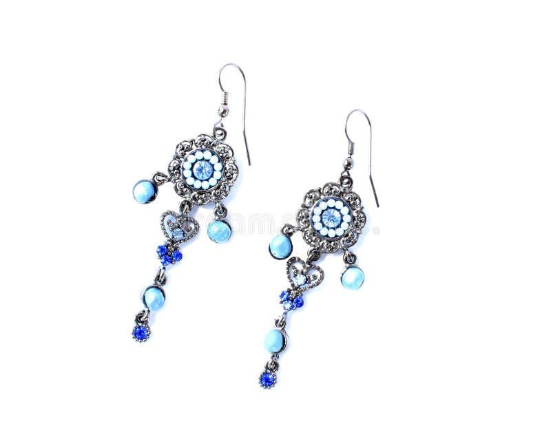 Download Kolczyków Błękitny Kamienie Obraz Stock - Obraz złożonej z elegancki, elegancja: 13332295