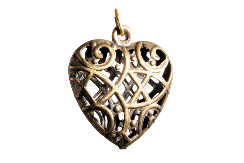kolczyki w kształcie serca zdjęcie stock