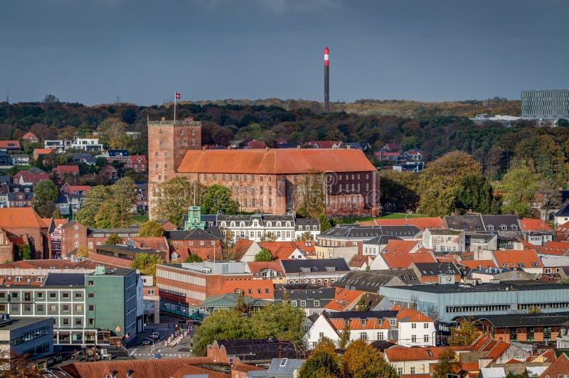Koldinghus一座老城堡在科灵丹麦 免版税库存图片