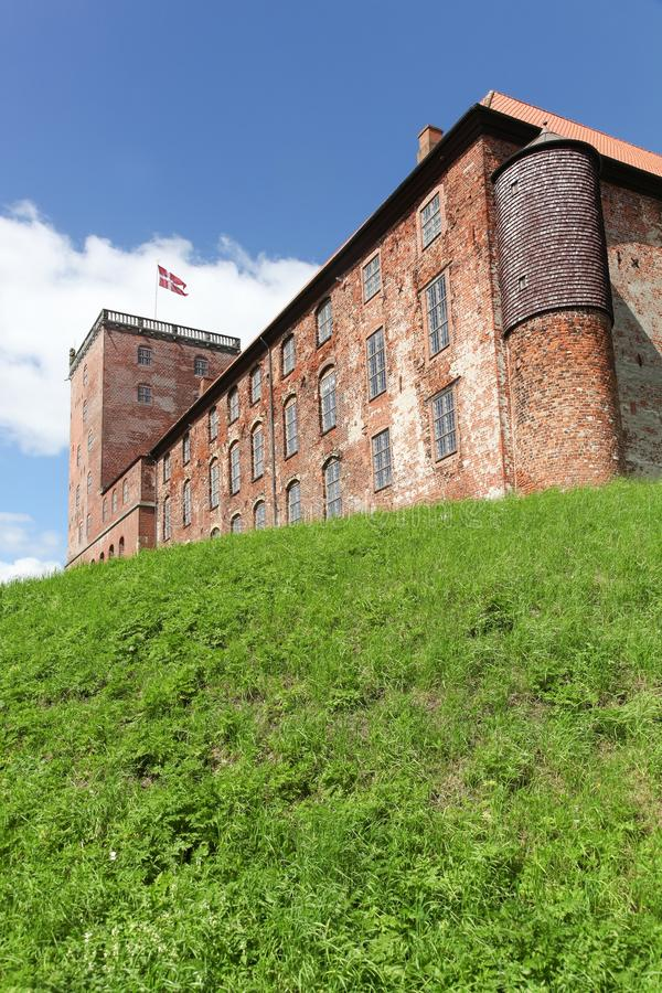 Koldinghus,丹麦皇家城堡在市科灵 免版税库存图片