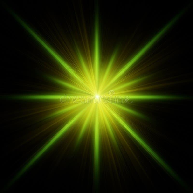 kolec błyskowa zielona gwiazda royalty ilustracja