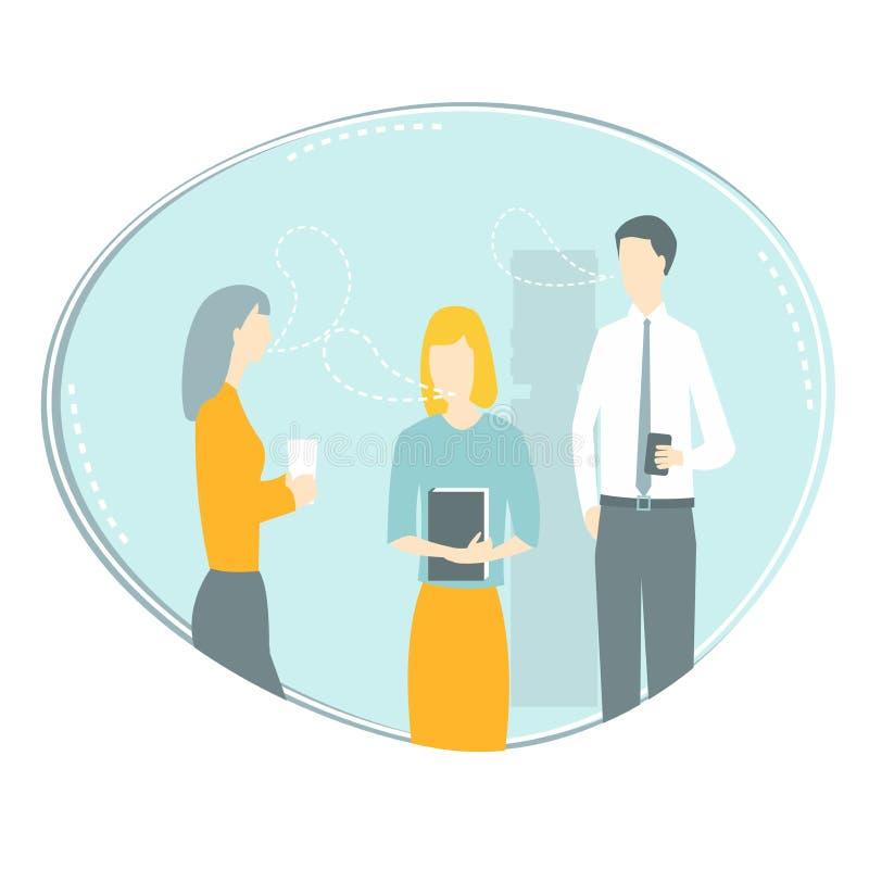 Koledzy komunikują również zwrócić corel ilustracji wektora ilustracji
