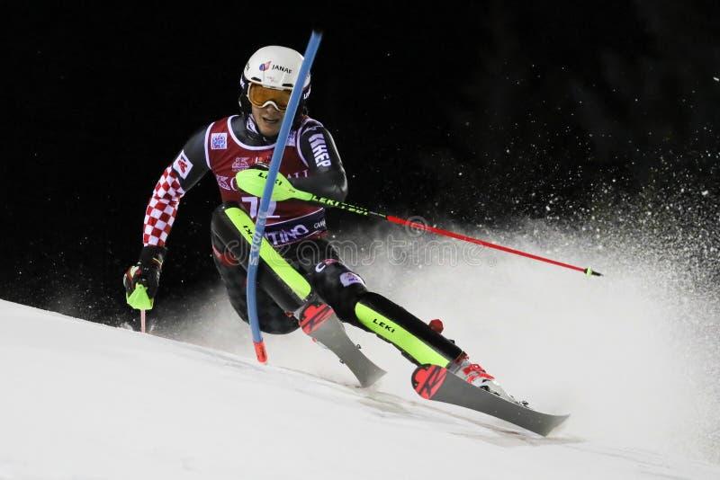 Ski FIS AUDI World Cup - Slalom Men stock image