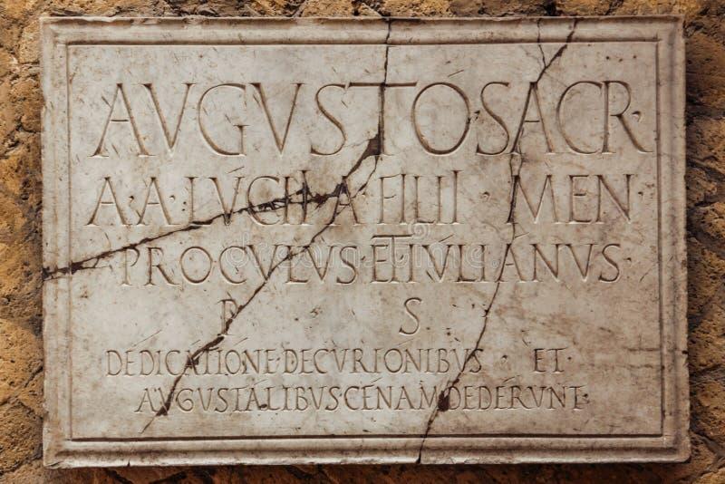 Kolegium Augustistów Herkulaneum Neapol Włochy fotografia stock