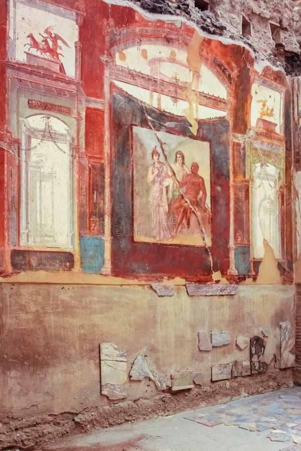 Kolegium Augustistów Herkulaneum Neapol Włochy obraz royalty free