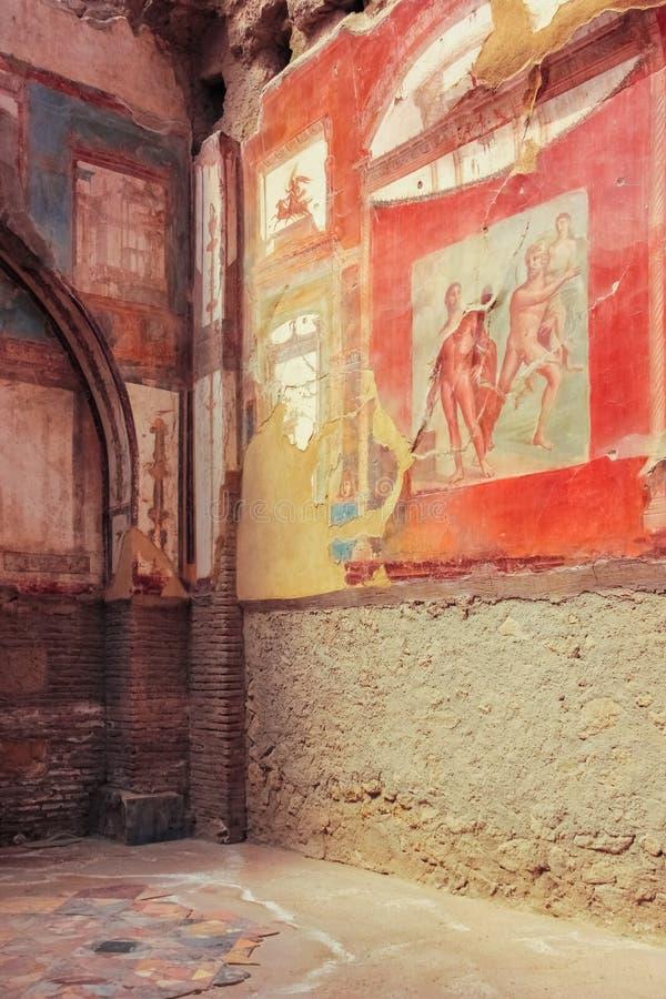 Kolegium Augustistów Herkulaneum Neapol Włochy zdjęcie stock