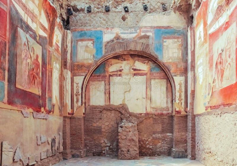 Kolegium Augustistów Herkulaneum Neapol Włochy zdjęcia royalty free