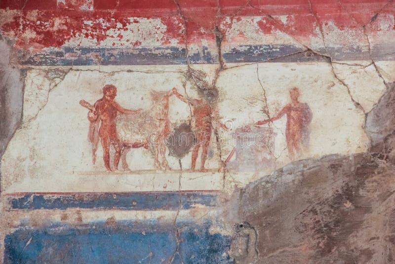 Kolegium Augustistów Herkulaneum Neapol Włochy obrazy stock