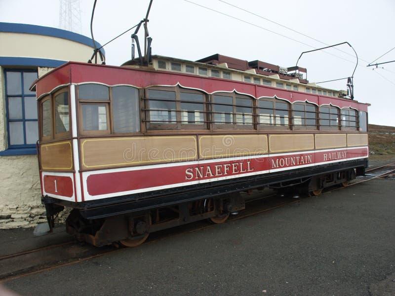 kolei snaefell górski zdjęcia stock