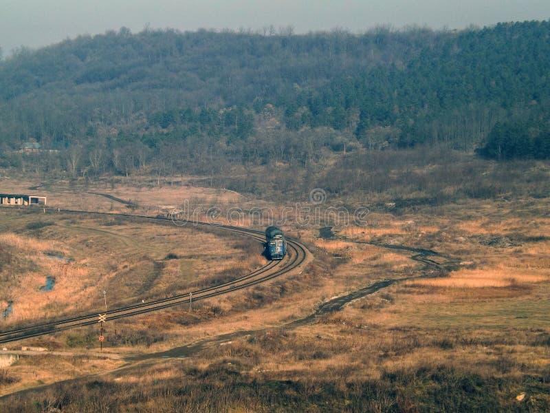Kolej krajobraz od Rumunia fotografia stock