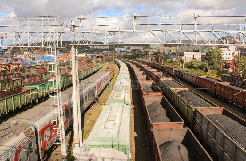 Kolej w Murmansk obraz stock
