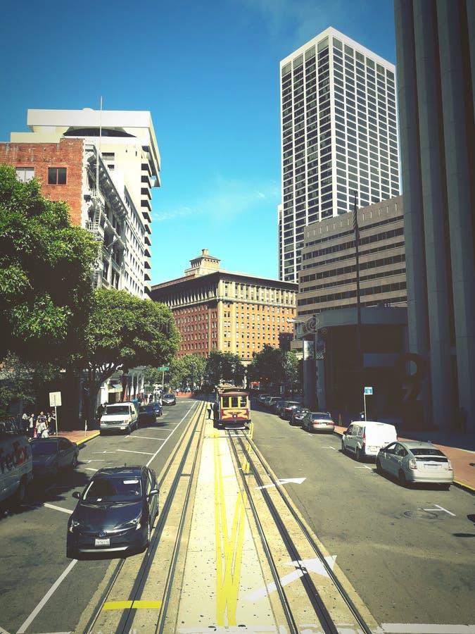 kolejki wagon San Francisco fotografia royalty free