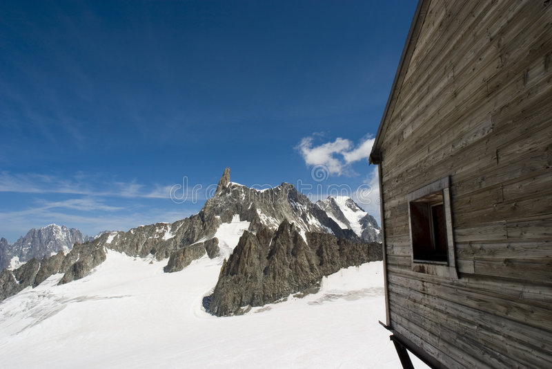 kolejki wagonu France Chamonix, stacja fotografia royalty free