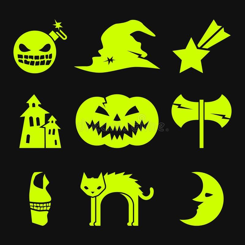 kolejna Halloween ikon dynia coś czarownice ilustracja wektor