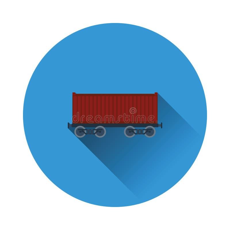 Kolejowa ładunku zbiornika ikona ilustracji