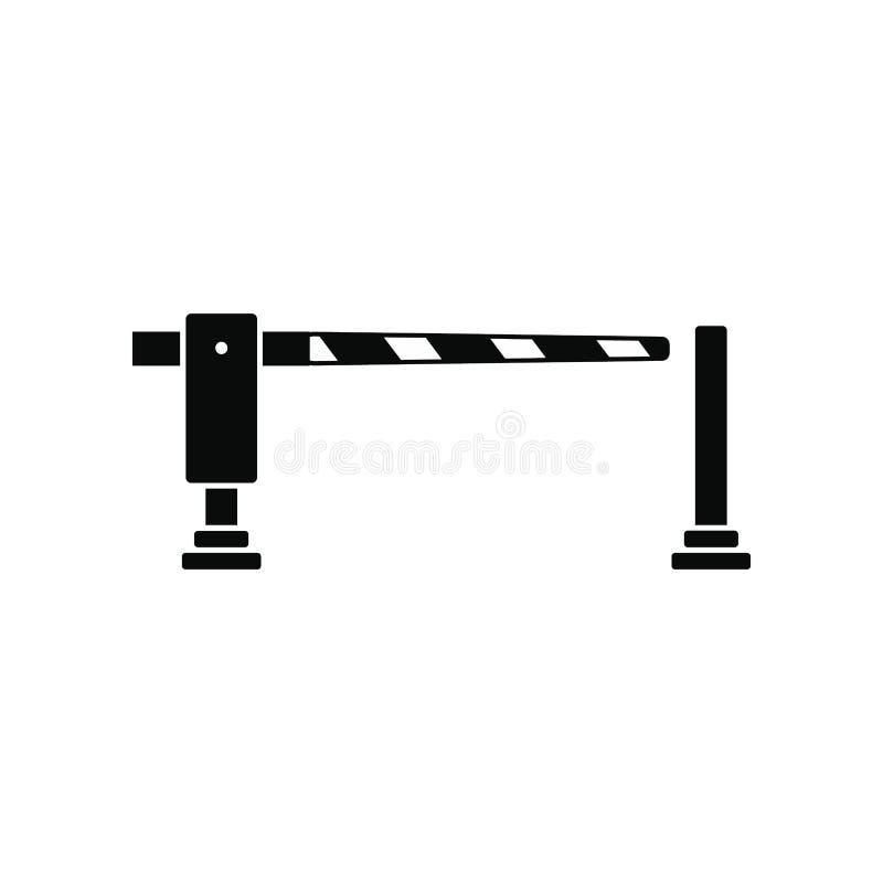 Kolejowa bariery ikona ilustracja wektor
