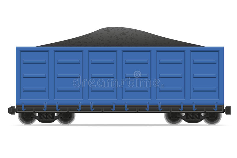 Kolejowa frachtu pociągu wektoru ilustracja ilustracji