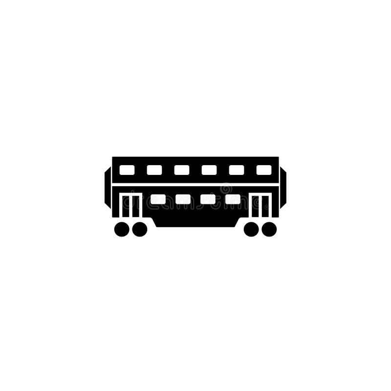 Kolejowa kareciana stała ikona, nawigacja ilustracja wektor
