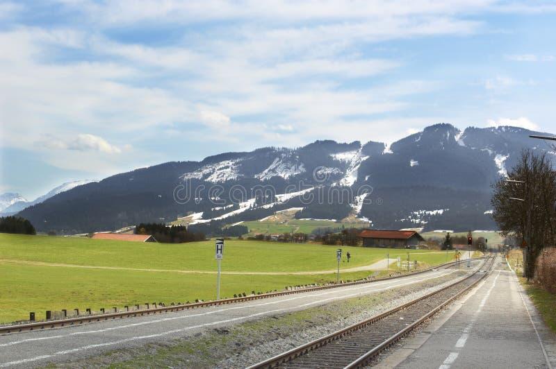 kolejowe alps góry zdjęcie royalty free