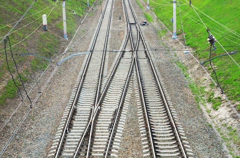 Download Kolejowi ślada obraz stock. Obraz złożonej z transport - 53780635