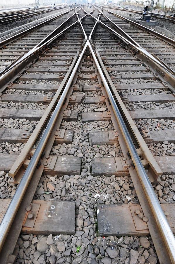 kolejowy ślad fotografia royalty free