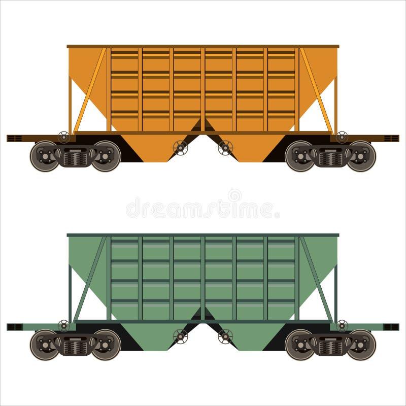 Kolejowy frachtowy samochód royalty ilustracja