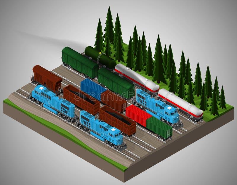 Kolejowy frachtowy transport royalty ilustracja
