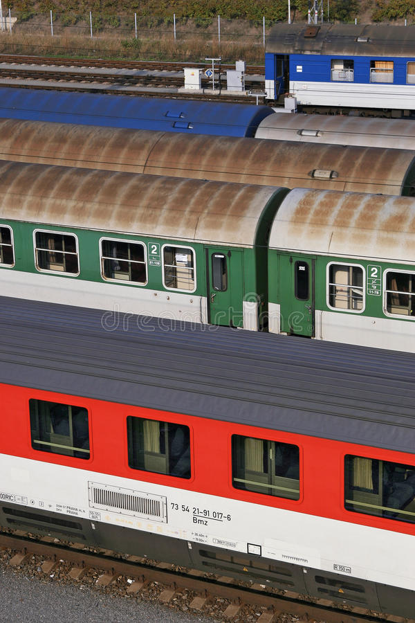 kolejowy jard zdjęcia stock