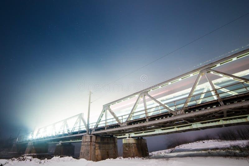 Kolejowy most w Rumunia fotografia stock