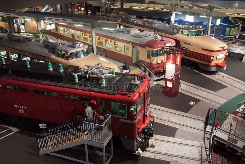 Kolejowy muzeum w Japonia zdjęcie stock