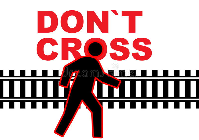 kolejowy ostrożność ślad royalty ilustracja
