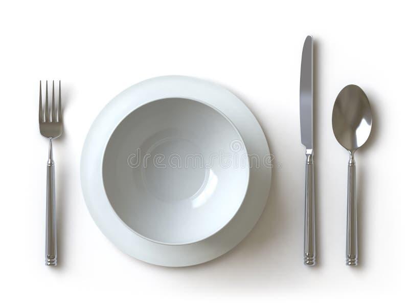 kolekci tutaj pchnięcia tableware ilustracja wektor