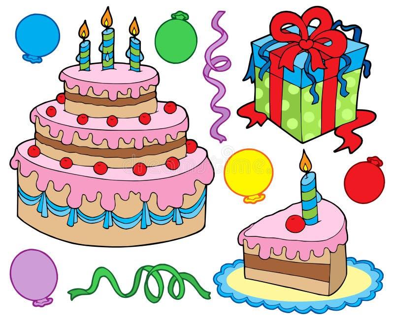 kolekci urodzinowy przyjęcie royalty ilustracja