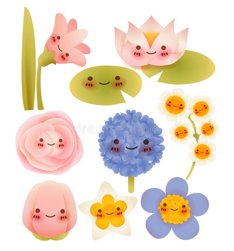 Kolekcja Śliczni kwiaty royalty ilustracja