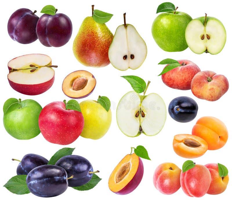 Kolekcja świeże owoc odizolowywać zdjęcie royalty free