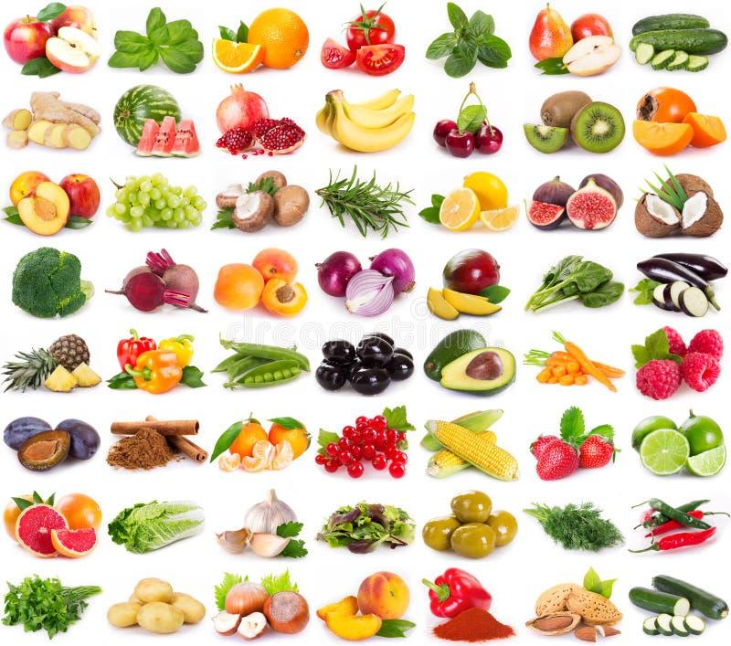 Kolekcja świezi owoc i warzywo zdjęcie stock