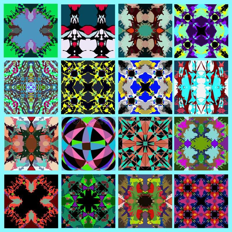 Kolekcja abstrakcjonistyczna geometrical tła grunge skutka wektoru ilustracja ilustracja wektor