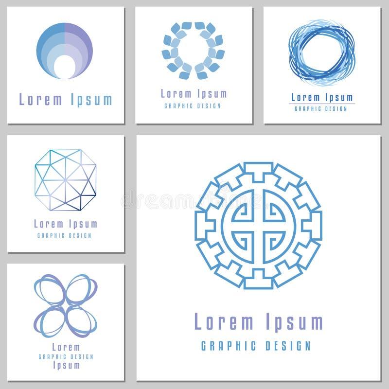 Kolekcja Abstrakcjonistyczni Round kształty Dla logów ilustracji