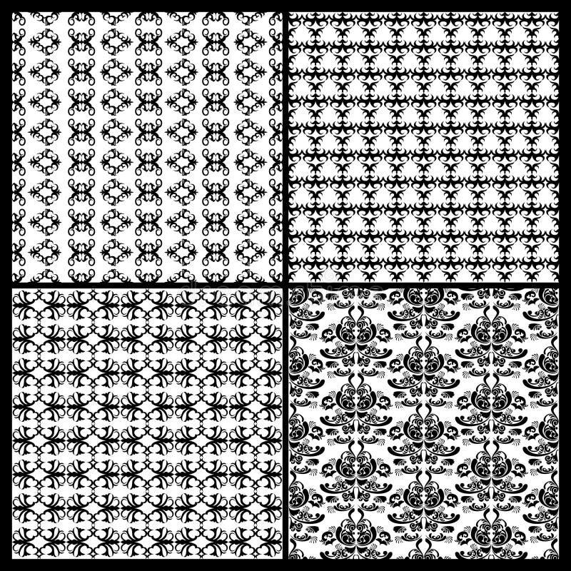 Kolekcja Adamaszkowi wzory ilustracji