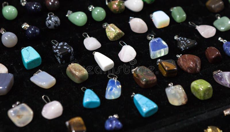 Kolekcja barwiący breloczki od różnych klejnotów zdjęcie royalty free