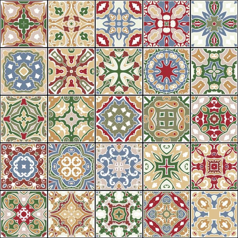 Kolekcja ceramiczne płytki royalty ilustracja