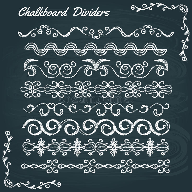 Kolekcja chalkboard dividers ilustracji