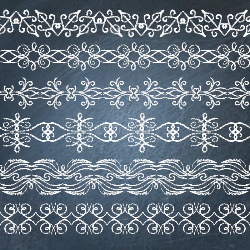 Kolekcja chalkboard granicy ilustracji