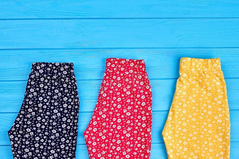 Kolekcja collorful spodnia dla dzieci obraz stock