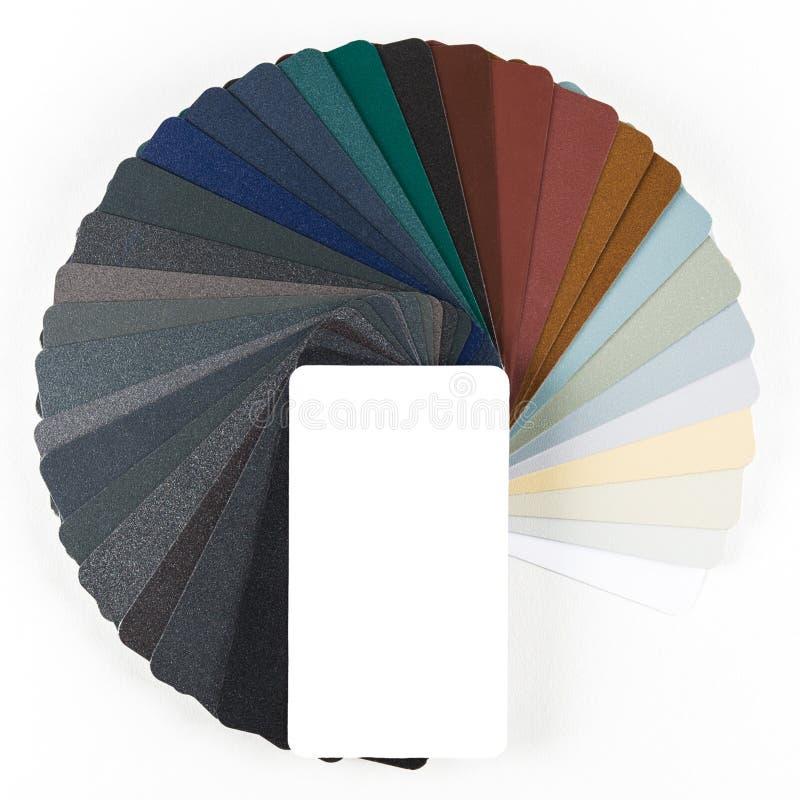 Kolekcja colourful colour przewdonik odizolowywający na białym tle obrazy stock