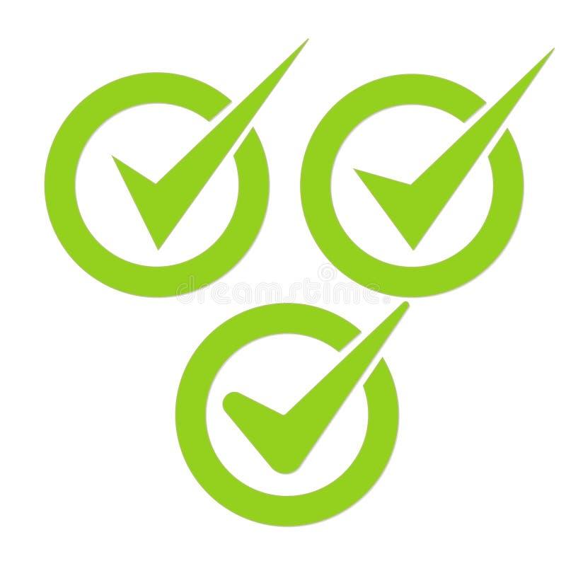 Kolekcja czek oceny znaki Bierzmowanie oceny r?wnie? zwr?ci? corel ilustracji wektora ilustracja wektor