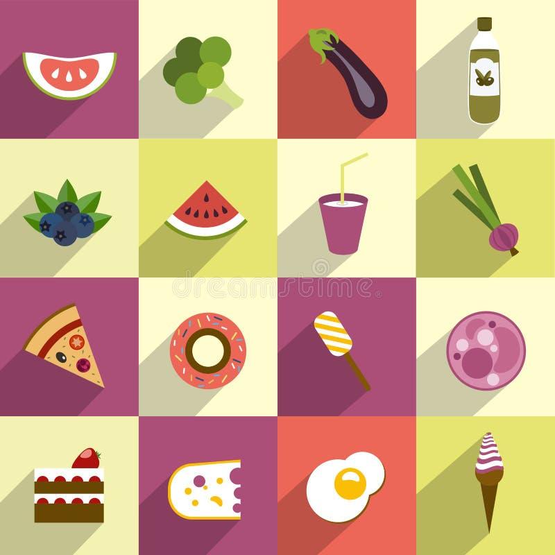 Kolekcja dieta i sadła jedzenie. royalty ilustracja