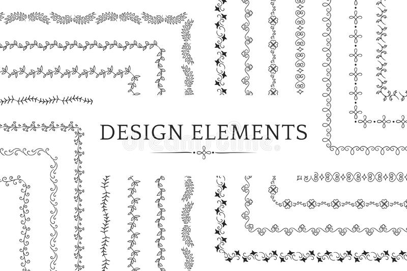 Kolekcja divider projekta elementu wektory ilustracja wektor