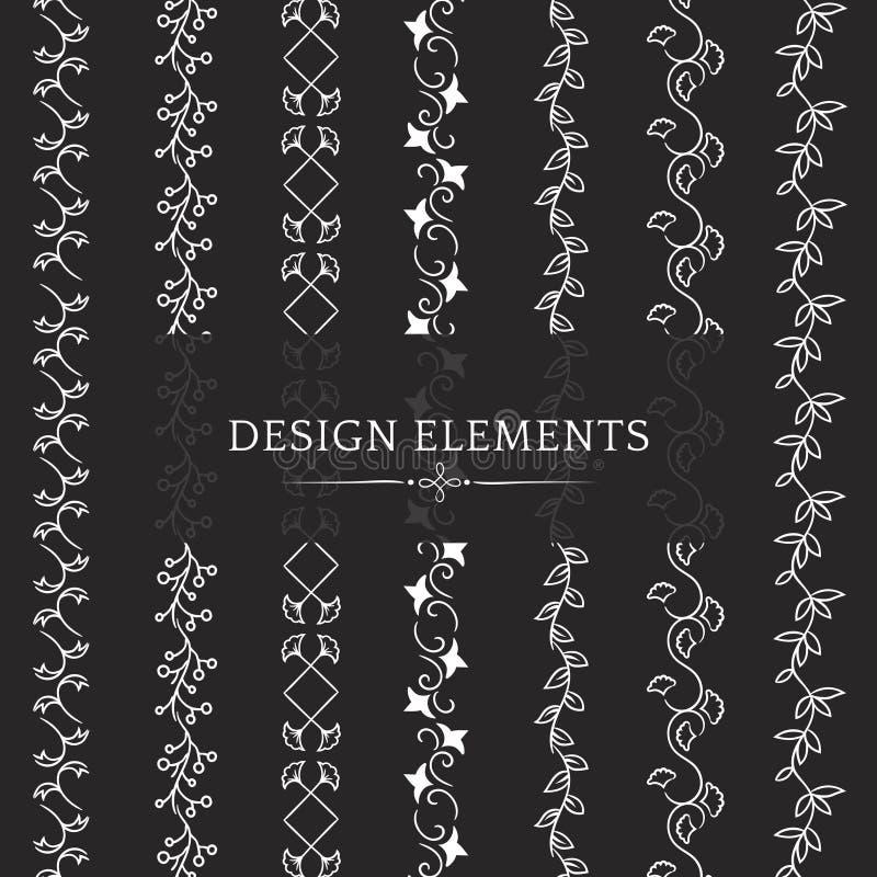 Kolekcja divider projekta elementu wektory royalty ilustracja