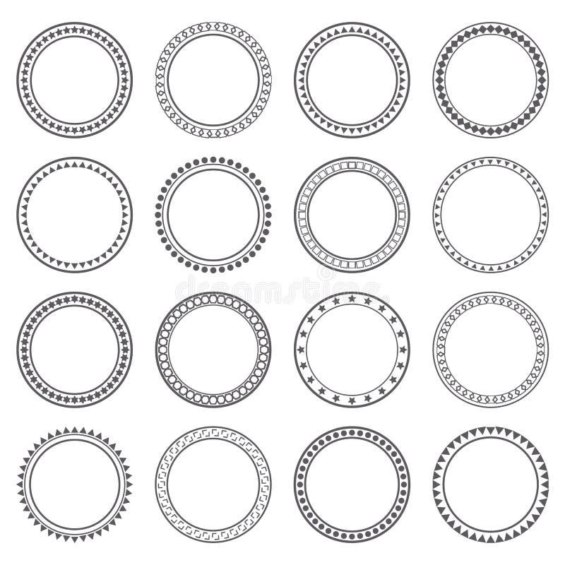 Kolekcja etniczne granicy Round ramy elementy projektu dekoracji ilustracji wzory prostych ilustracji